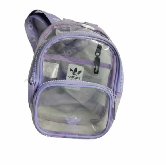 Adidas clear plastic mini backpack